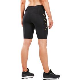 2XU MCS Run Shorts Mujer, black/gold reflective